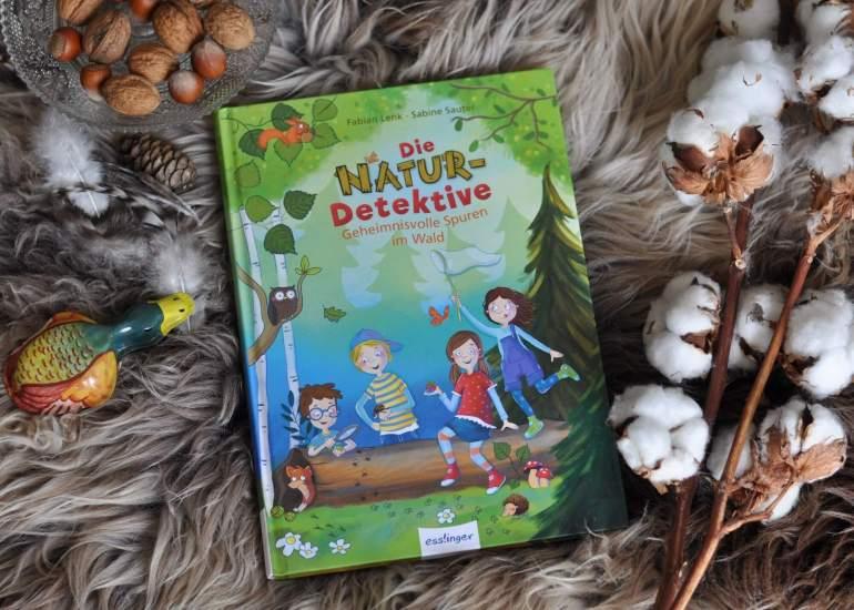 Die besten Outdoor-Bücher! Kombination aus Detektiv-Abentuer und spielerischem add-on über die Natur. Mit Mitmach-Rätseln und Zusatzwissen zum Naturraum Wald. #kinderbuch #schnitzen #outdoor #natur #survival