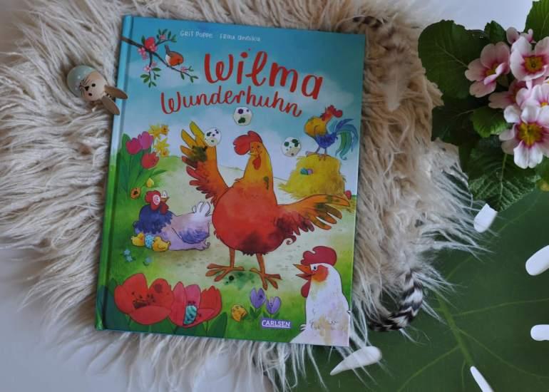 Das gibt es doch gar nicht: Wilma ist ein Huhn, aber sie legt keine Eier, jedenfalls keine eierförmigen. Sie legt Würfel. Alle anderen Hennen finden das irgendwie sonderbar und auch Wilma selbst möchte eigentlich nichts lieber als so sein wie die anderen. #bilderbuch #vorlesen #huhn #schwäche #besonders #anders #ostern