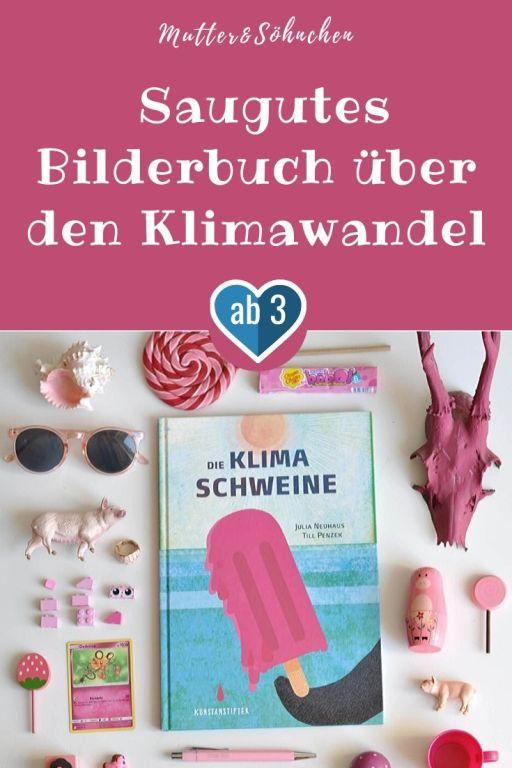 Den Klimaschweinen geht es saugut! Sie schwelgen in einem Leben aus materiellem Luxus. Während die Schweine reisen und verschwenderisch leben, wird es im weit entfernten Pinguinland immer wärmer und das Himbeereis schmolz schneller, als man es essen konnte. Schnell ist der Schuldige gefunden: Die Schweine! #klima #umwelt # #bilderbuch #schutz #sachbuch #lesen #kinder #buch #pinguin #schwein