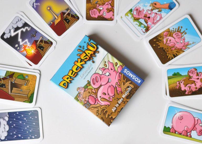 Drecksau Kinderspiel Kartenspiel für Kinder ab 7 Jahren