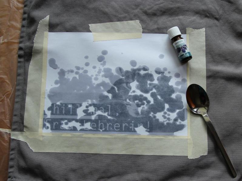 Lavendeldruck - Making of 1