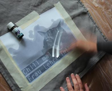 Lavendeldruck - Making of 2