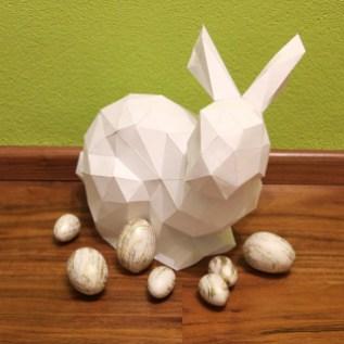 Polygon-Osterhase aus Papier | Osterdeko selbstgemacht | DIY | Muttis Nähkästchen