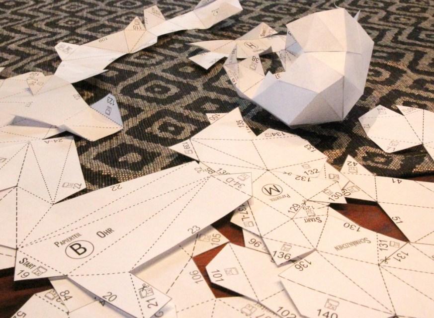 Polygon-Osterhase aus Papier   Osterdeko selbstgemacht   DIY   Muttis Nähkästchen