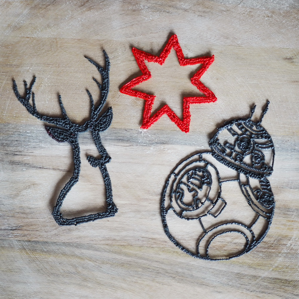 Basteln mit Kindern: DIY Weihnachtsdeko mit dem 3D-Zeichenstift. Hirsch, Stern und BB8
