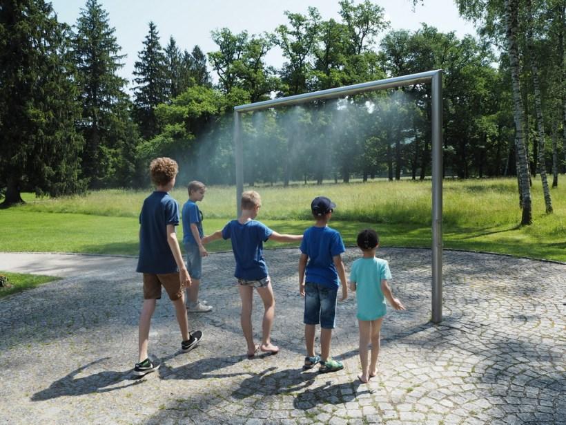 Hellbrunn: Abkühlung