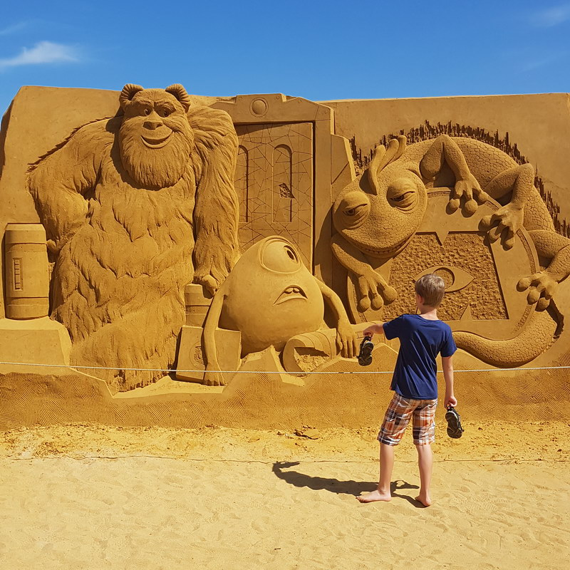 Flandern mit Kind: Disney Sand Magic Oostende