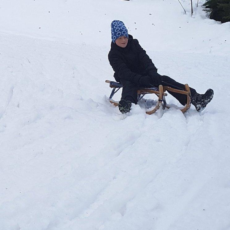 Erfahrungsbericht Skifahren mit Kind am Bewegungsberg Golm, Montafon: Rodeln