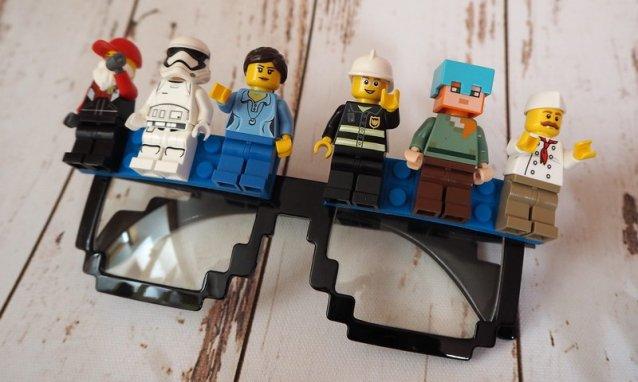 DIY Lego Brille für Fasching: Karneval Brille selbstgemacht