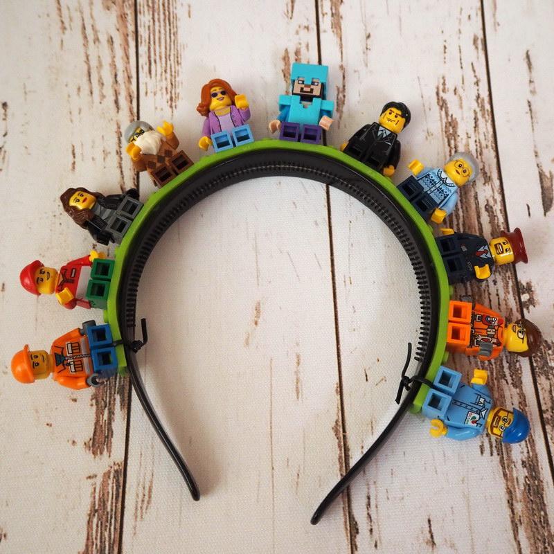 DIY Lego Haarreifen für Fasching fertig