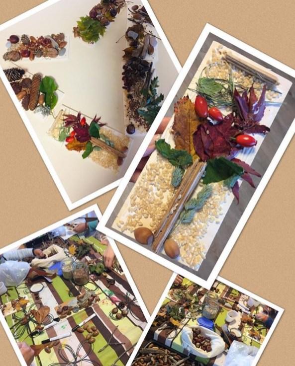 Bilder mit Herbstmaterialien