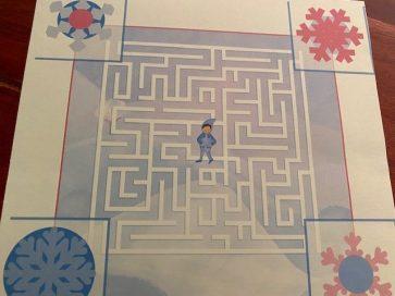 Labyrinth zur richtigen Schneeflocke