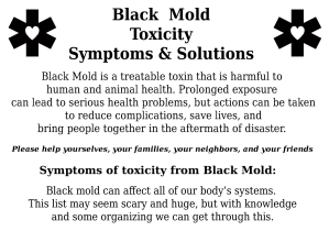 Black Mold Toxicity