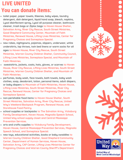 United Way Holiday Ideas