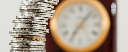 coins and time clock retirement