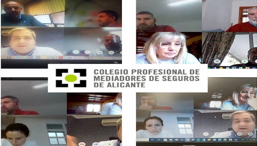 El Colegio de Alicante celebra la junta directiva de marzo por videoconferencia