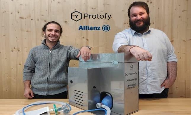Allianz impulsa la expansión de los respiradores de emergencia OxyGEN creados en España