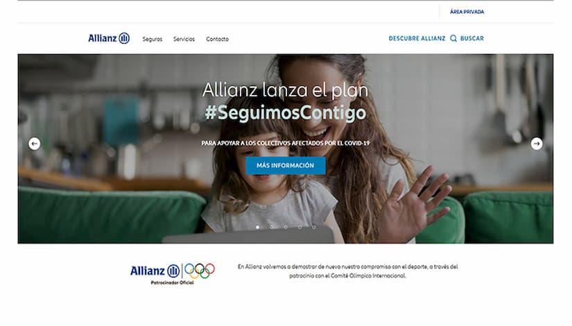 Allianz renueva web corporativa mejorar experiencia online usuarios