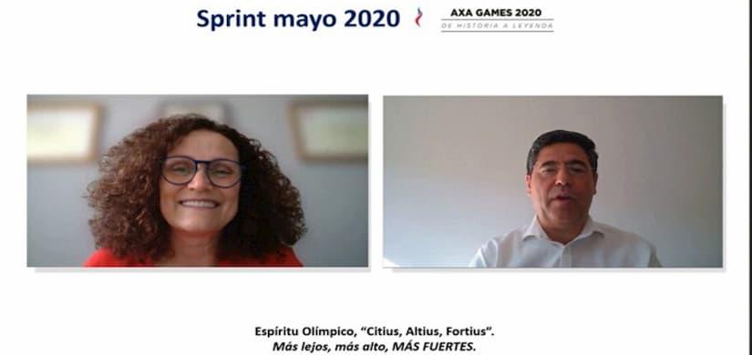 AXA España celebra la primera reunión comercial virtual de su historia