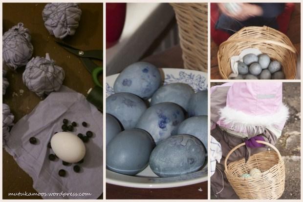 mustikatega munade värvimine