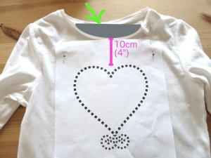 DIY Hot-fix Rhinestone Pattern Making - placing pattern on shirt