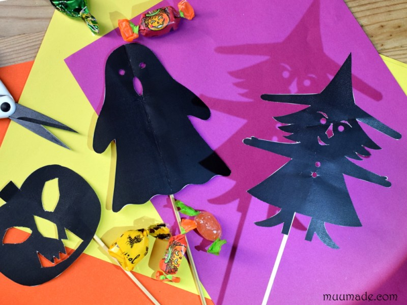 Halloween Shadow Puppets: Witch, Jack O'Lantern, Ghost -Muumade