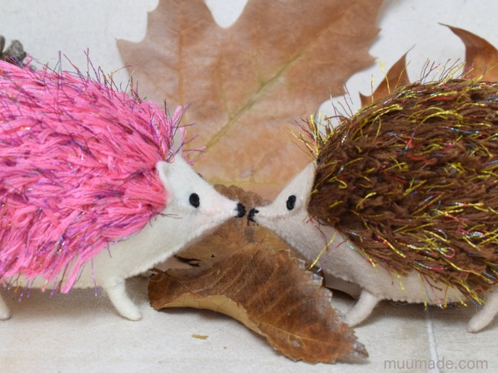 Little Felt Hedgehog sewing pattern from Muumade.com