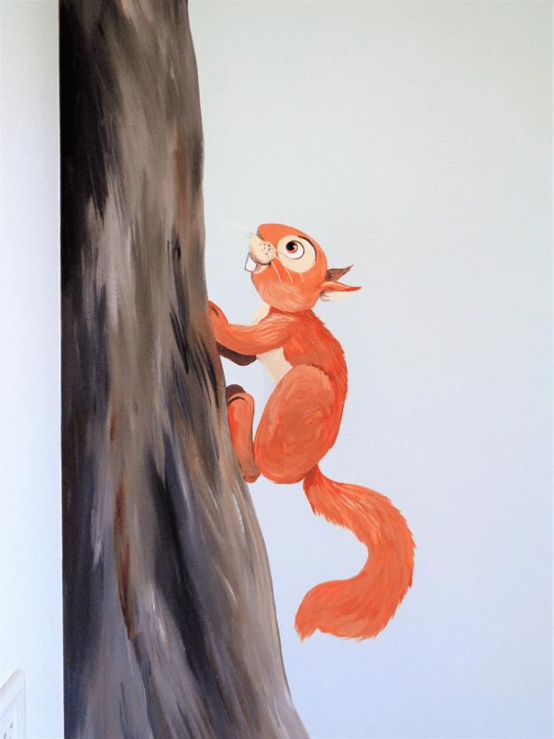kinderkamer muurschildering dieren