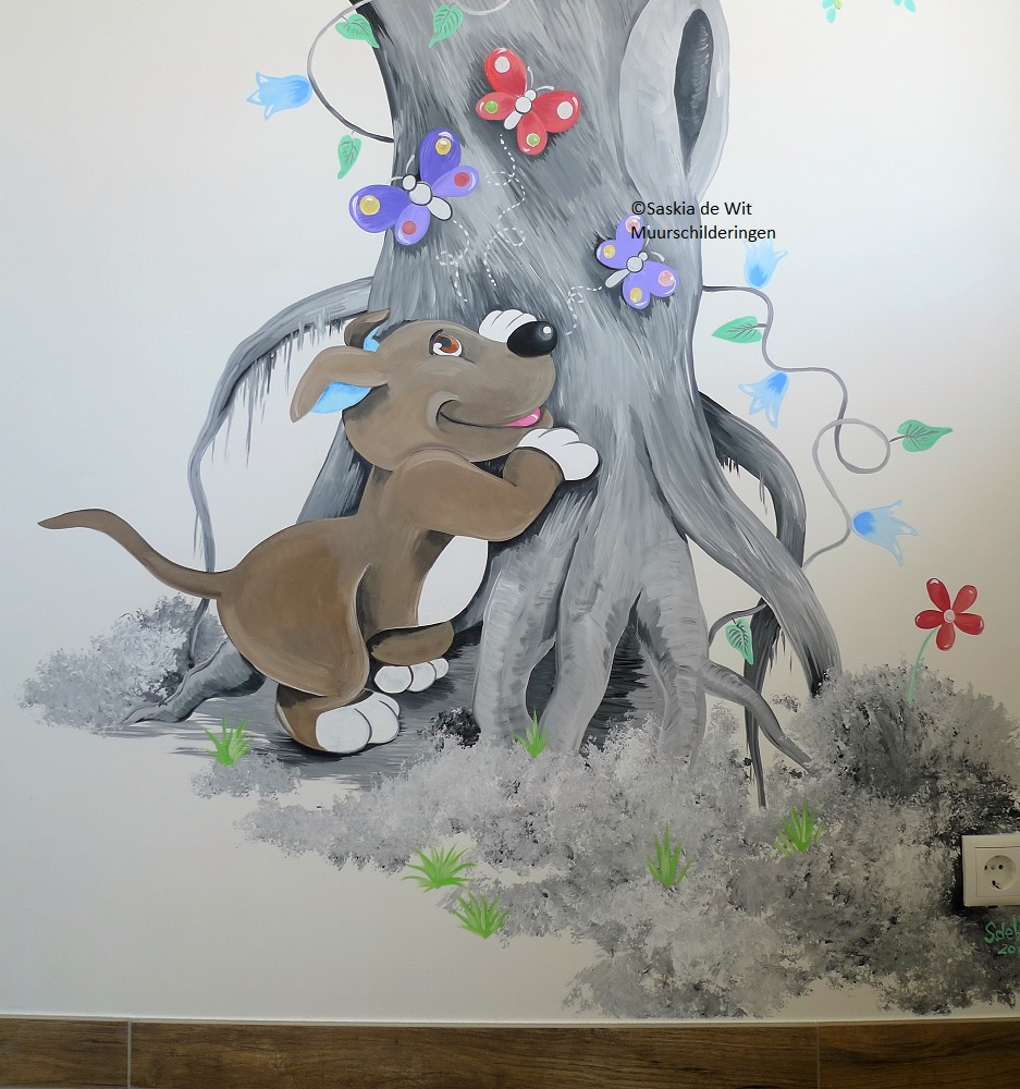 muurschildering laten maken babykamer