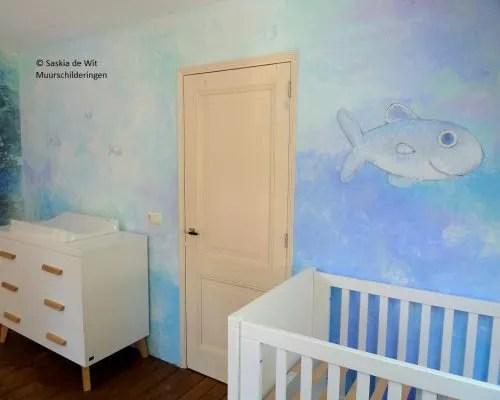 zee kinderkamer muurschildering