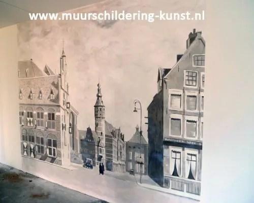muurschildering gebouw