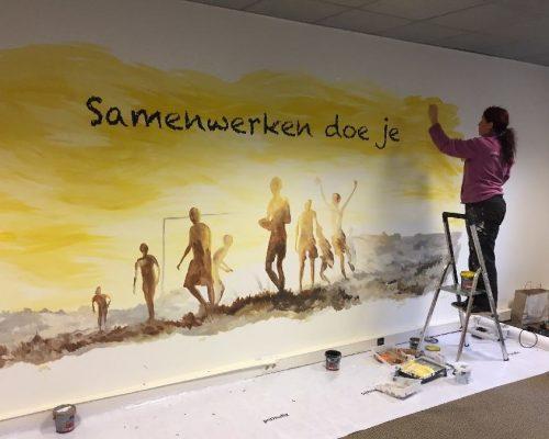 kantoor muurschildering