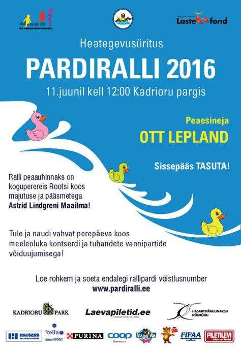 Pardiralli 2016 poster