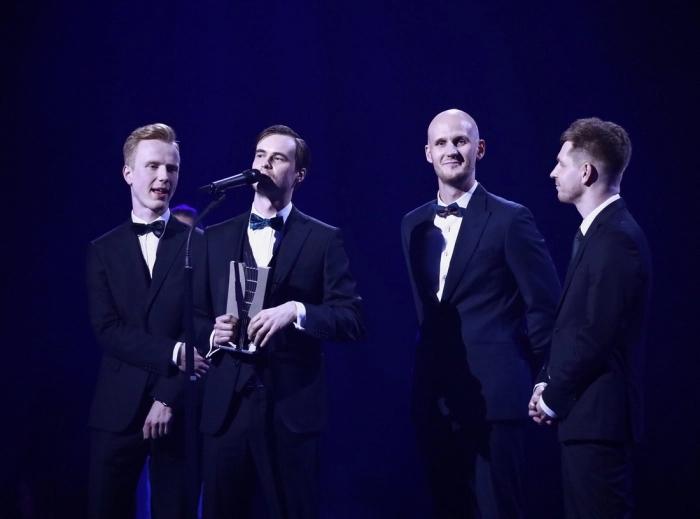 Ansambel Miljardid EMA 2018 galal. (Foto: Kalev Lilleorg)