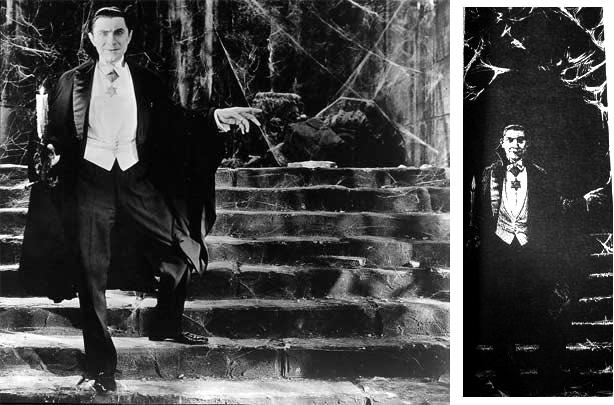 Dracula [Bela Lugosi] on Staircase