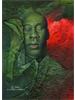 Man Eyes Closed Green