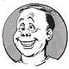 """Self Portrait Caricature, Smiling"" (BW)"