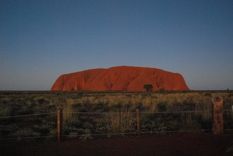 Uluru auringonlasku