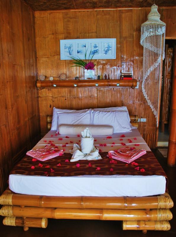 Bantayanin bambumaja sisältä