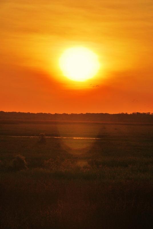 Auringonlasku Kakadussa