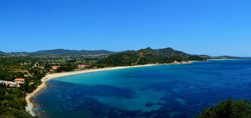 Sardinian etelärannikkoa