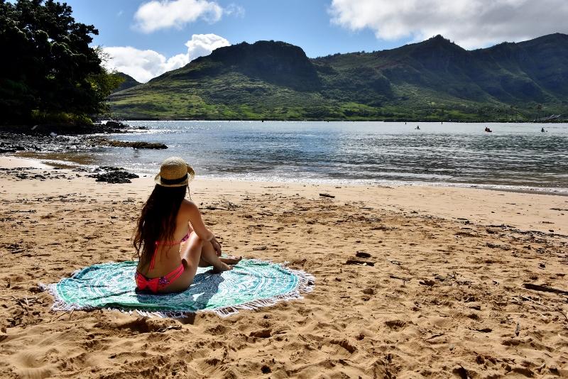 Rannalla Kauailla Havaijilla