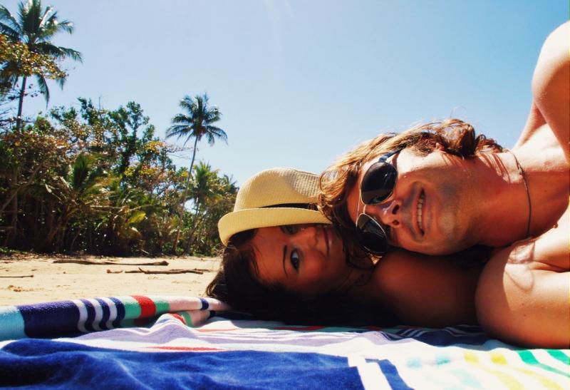 rannalla Australian itärannikolla