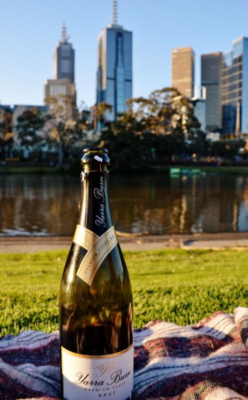Piknik puistossa Melbournessa