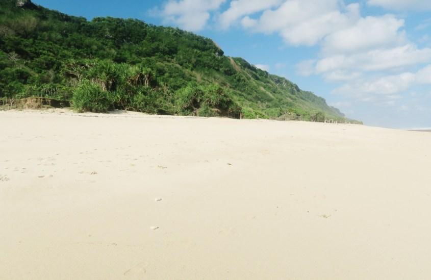 Bali hiljainen ranta