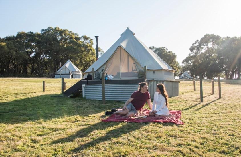 Telttailua tyylillä – Glamping-kokemus Australiassa