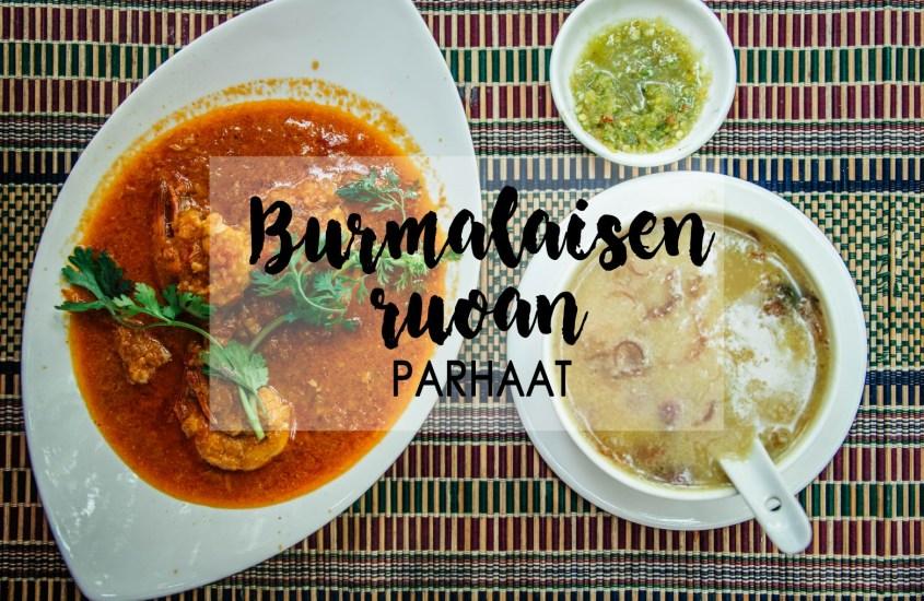 Burmalaisen ruoan parhaat