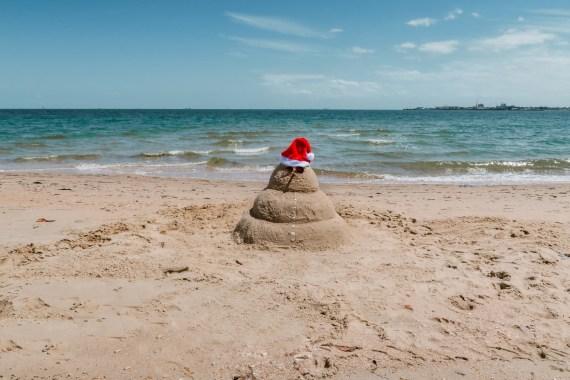 Joululahja matkailijalle | Hiekka-lumiukko