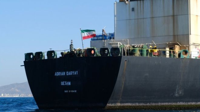 Iran tanker row: Released ship wanted by US 'seen off Syria - image  on https://muvison.com