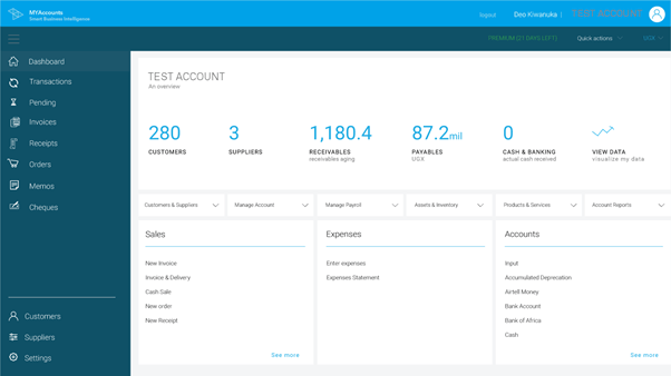 MYAccounts (myaccounts.ug) web interface.